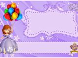 1st Birthday Invitation Photo Frames sofia the First Birthday Invitations Printable sofia the
