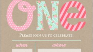 1st Birthday Invitation Template Blank Pink and Mint First Birthday Fill In the Blank Invitation
