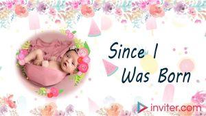 1st Birthday Invitation Video Template First Birthday Video Invitation 1st Birthday Invitation