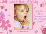 1st Birthday Invitations Templates Free First Birthday Invitation Template