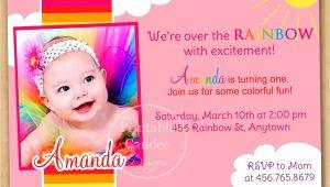 1st Birthday Invitations Templates with Photo Free 1st Birthday Invitation Cards Templates Free