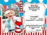 1st Birthday Invitations Templates with Photo Free Dr Seuss 1st Birthday Invitation Template