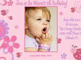 1st Birthday Invitations Templates with Photo Free First Birthday Invitation Template
