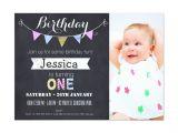 1st Birthday Invitations Templates with Photo Free Free First Birthday Invitations Girl