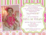 1st Birthday Invites Wording First Birthday Invitation Wording