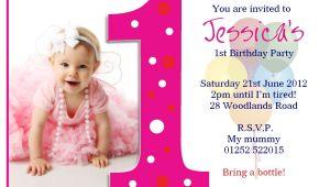 1st Year Birthday Invitation Card Template Birthday Party First Birthday Invitations Card