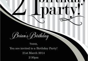 21 Birthday Invitations Templates Free 21st Birthday Invitation Templates Male Templates