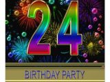 24th Birthday Invitations 24th Birthday Party Invitation with Bubbles