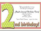 2nd Birthday Invitation Wording for Boy 2nd Birthday Invitation Wording Ideas Bagvania Free