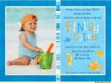 2nd Birthday Invitation Wording for Boy Colorful Fish Photo Birthday Invitations Seahorse Starfish