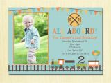 2nd Birthday Invitation Wording for Boy Train Birthday Invitation Boys 1st 2nd 3rd 4th Birthday
