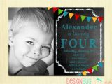 3 Year Old Boy Birthday Party Invitations Boys Chalkboard Birthday Invitation 1 2 3 4 5 100 Year