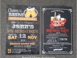 30th Birthday Party Invitations for Him 40th Birthday Invitation for Men 30th Birthday Invitation for
