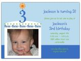 3rd Birthday Invitation Wording Boy Birthday Cake Boy Third Birthday Invitations