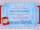 3rd Birthday Invitation Wording Boy Birthday Train Invitation Fun Boy S Party Classic