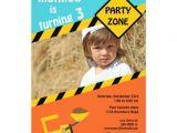 3rd Birthday Invitation Wording Boy Boys 3rd Birthday Construction Invitation