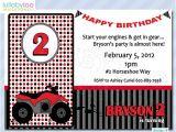 4 Wheeler Birthday Invitations Four Wheeler Birthday Invitations 073 12 Printed by Lullabyloo