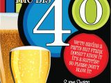 40th Birthday Invitation Wording for Man 40th Birthday Surprise Party Invitations Beer Men by