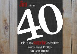 40th Birthday Invitation Wording for Man 9 Best Of Men 40th Birthday Invitations Printable