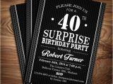 40th Birthday Party Invitations Templates Free 40th Birthday Invitations Templates Free