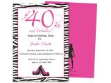 40th Birthday Party Invitations Templates Free Invitation Templates 40th Birthday Party