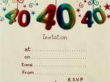 40th Birthday Party Invitations Templates Free Surprise 40th Birthday Invitation Free Template