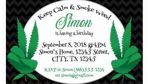 420 Party Invitations Marijuana Black Birthday Party Invitations – Paper Blast