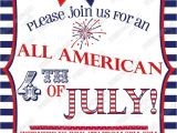 4th Of July Party Invite 4th Of July Party Invitation the Holidays Pinterest