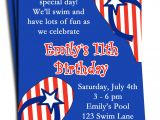 4th Of July Party Invite Fourth Of July Pool Party Invitation Printable or Printed with