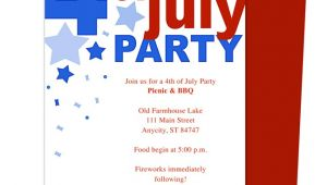 4th Of July Party Invite Template 6 Best Of 4th July Invitations Templates