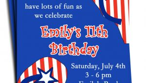 4th Of July Pool Party Invite Fourth Of July Pool Party Invitation Printable or Printed with