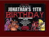 5 Nights at Freddy S Birthday Invitations Five Nights at Freddy S Birthday Invitation by