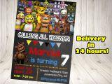 5 Nights at Freddy S Birthday Invitations Five Nights at Freddy S Invitation Five Nights by