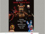 5 Nights at Freddy S Birthday Invitations Five Nights at Freddy S Party Personalized Party