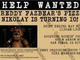 5 Nights at Freddy S Birthday Invitations Novel Concept Designs Five Nights at Freddy S Video Game
