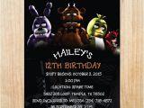 5 Nights at Freddy S Birthday Invitations Printable Five Nights at Freddy S Invitation Five Nights