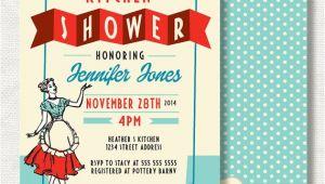 50 S Bridal Shower Invitations 50s Bridal Shower Invitation Retro Kitchen Bridal Shower