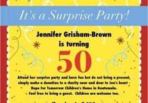 50th Anniversary Surprise Party Invitations 50th Birthday Surprise Party Invitations Free Invitation