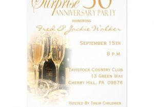50th Anniversary Surprise Party Invitations Surprise 50th Anniversary Party Invitations Zazzle