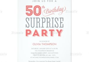 50th Anniversary Surprise Party Invitations Surprise 50th Birthday Party Invitation Wording
