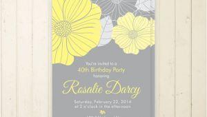 50th Birthday Brunch Invitations 30th Birthday Invitation Floral 40th Birthday 50th