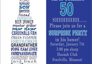 50th Birthday Invitation Ideas Funny Awesome Free Template Funny 50th Birthday Party Invitation