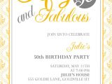 50th Birthday Invitation Templates Free Download Fifty and Fabulous – 50th Birthday Invitation ← Wedding