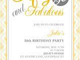 50th Birthday Party Invitation Templates Free 50th Birthday Party Invitations Templates