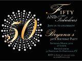 50th Birthday Party Invitation Templates Impressive 50th Birthday Party Invitation Template
