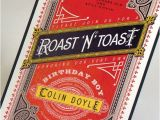50th Birthday Roast Invitations Roast and toast Birthday Invitation by Milanoink On Etsy