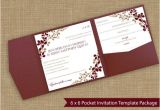 6 X 6 Wedding Invitation Template 6×6 Pocket Wedding Invitation Template Set by Karmakweddings