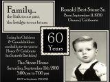 60th Birthday Invitation Sample 60th Birthday Party Invitations Wording Free Invitations