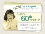 60th Birthday Invitation Sample Surprise 60th Birthday Invitation Digital Printable File