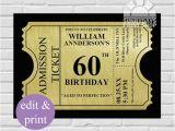 60th Birthday Invites Free Template 22 60th Birthday Invitation Templates – Free Sample